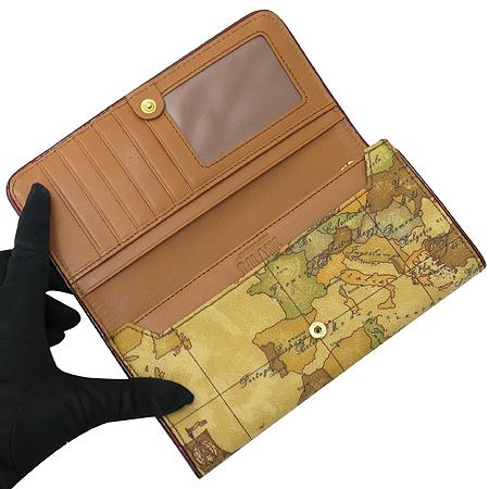 ALVIERO MARTINI(알비에로 마르티니) P132AW001 금장 로고 장식 PVC 2단 장지갑 [부산본점]