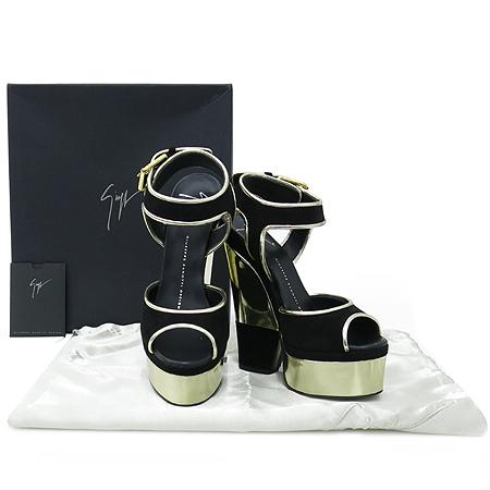 GIUSEPPE ZANOTTI(쥬세페 자노티) 스웨이드 금장 플랫폼 여성 구두