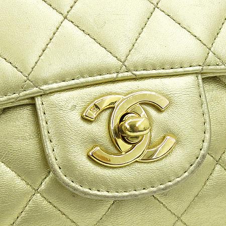 Chanel(샤넬) 램스킨 메탈릭 골드 퀼팅 토트백