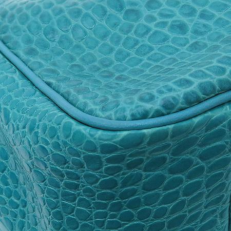 Long Champ(롱샴) 1686158 블루그린 크로커다일 패턴 레더 토트백