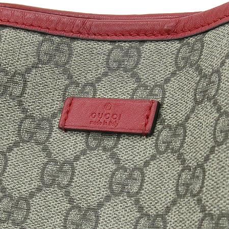 Gucci(구찌) 197953 레드 레더 트리밍 GG로고 PVC 쇼퍼 숄더백