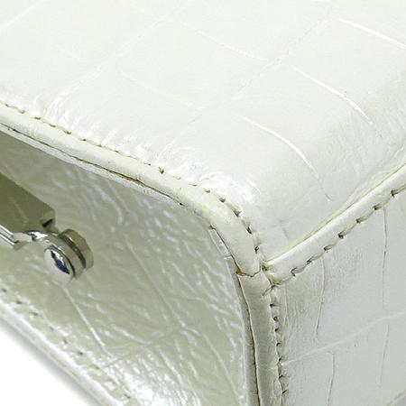DOUBLE M(더블엠) 크로커다일 패턴 은장 클러치 겸 체인 숄더백 이미지5 - 고이비토 중고명품