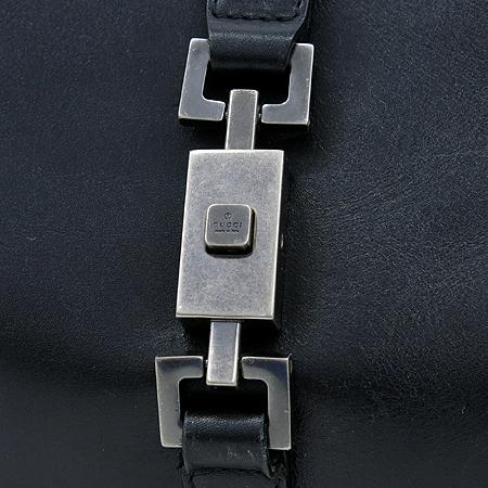 Gucci(구찌) 01719 은장 로고 장식 블랙 레더 숄더백