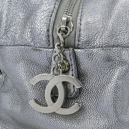 Chanel(샤넬) 럭셔리바이 실버 메탈릭 로고 스티치 은장 체인 숄더백