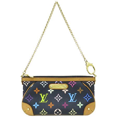 Louis Vuitton(루이비통) M60097 모노그램 멀티 블랙 밀라MM 클러치 겸 숄더백