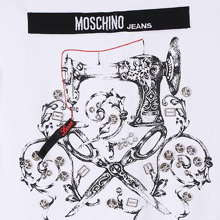 Moschino(모스키노) 화이트컬러 프린팅 반팔 티 [인천점] 이미지3 - 고이비토 중고명품