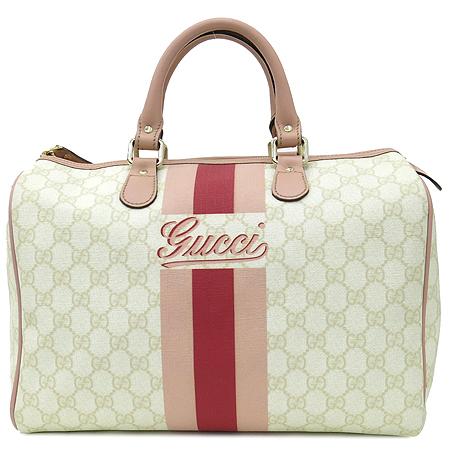 Gucci(구찌) 189895 삼색 스티치 GG로고 PVC 보스톤 토트백 [부산본점]