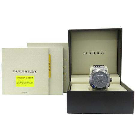 Burberry(버버리) BU2305 그레이 메탈릭 스틸 밴드 남성용 시계