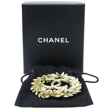 Chanel(샤넬) 금장 월계 COCO로고 브로치