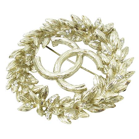 Chanel(샤넬) 금장 월계 COCO로고 브로치 이미지2 - 고이비토 중고명품