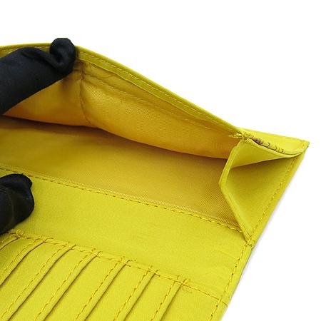 NINE WEST(나인웨스트) 은장 로고 장식 옐로우 레더 장지갑
