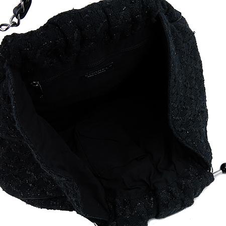 Chanel(샤넬) 블랙 트위드 은장 링 장식 토트백 [부산본점]