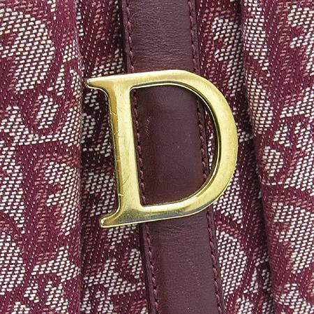 Dior(크리스챤디올) 금장 이니셜 스트랩 장식 패브릭 토트백