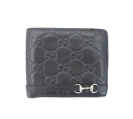 Gucci(구찌) 245772 GG 로고 시마 레더 은장 로고 반지갑 [분당매장]