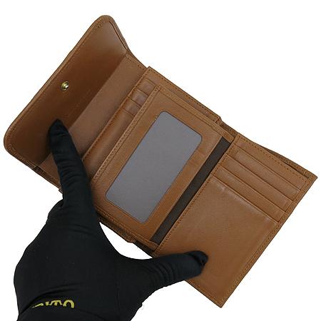 Louis_Quatorze(루이까또즈) 금장 로고 장식 PVC 2단 중지갑