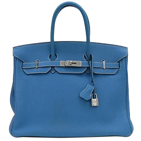 Hermes(에르메스) 토고 블루진 벌킨 35 은장로고 토트백 이미지2 - 고이비토 중고명품