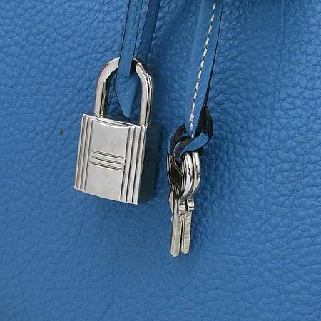 Hermes(에르메스) 토고 블루진 벌킨 35 은장로고 토트백 이미지5 - 고이비토 중고명품