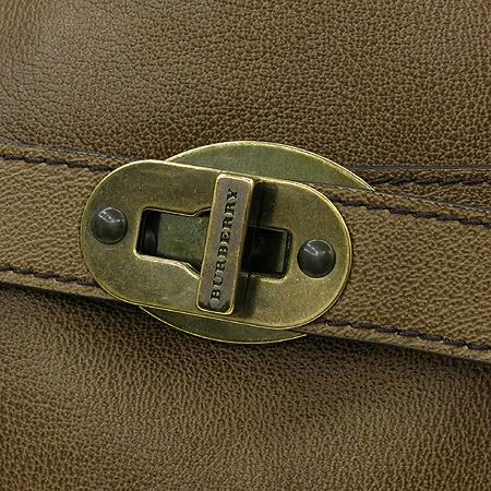 Burberry(버버리) 브라운 레더 금장 벨트 버클 장식 2WAY [압구정매장]
