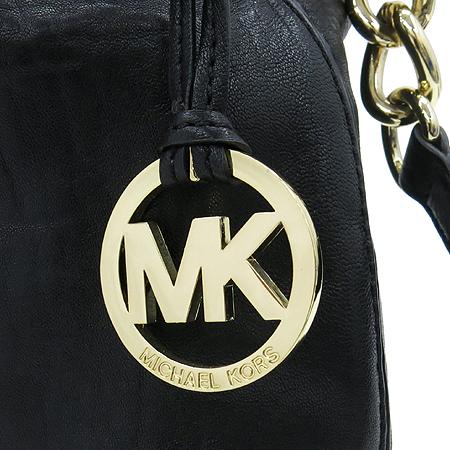 MICHAELKORS(마이클코어스) 블랙 레더 금장 스터드 장식 2WAY