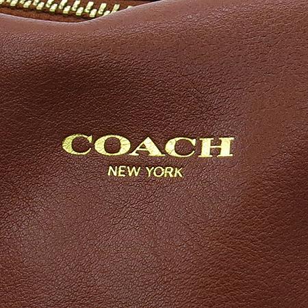Coach(코치) 19892 브라운레더 골드 프린팅 레가시 로리 사첼 태슬장식 2WAY