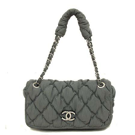 Chanel(샤넬) COCO 로고 패브릭 버블 체인 숄더백 [부천 현대점]