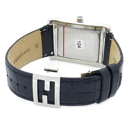 Fendi(펜디) 7600G 사각 프레임 측면 로고 가죽 밴드 클립 남성용 시계 [압구정매장]
