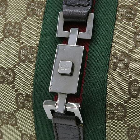 Gucci(구찌) 00963 GG 로고 자가드 삼색 스티치 재키 숄더백