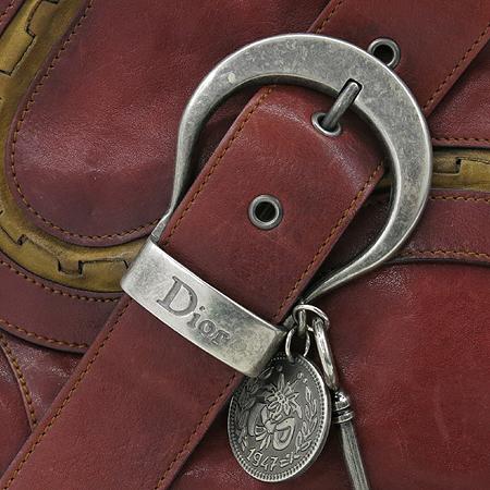 Dior(크리스챤디올) 레드 레더 가우쵸 원 포켓 숄더백