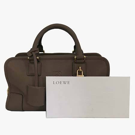 Loewe(로에베) 아마조나 로고 그레이 레더 토트백 [일산매장]