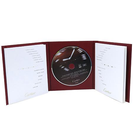 Cartier(까르띠에) W20126X8 산토스 100 M사이즈 오토매틱 핑크 엘리게이터 가죽밴드 여성용 시계