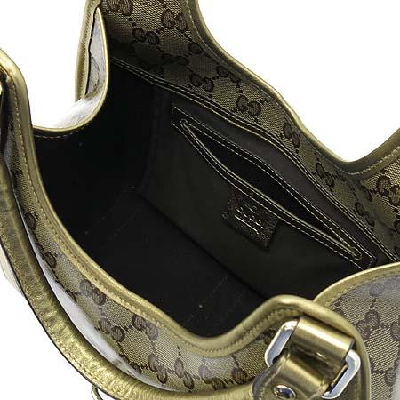 Gucci(구찌) 203495 GG 로고 에나멜 골드 메탈릭 트리밍 숄더백