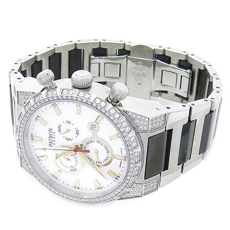 Patron(패트론) PR201202M 크로노 스와로브스키 장식 남성용 시계
