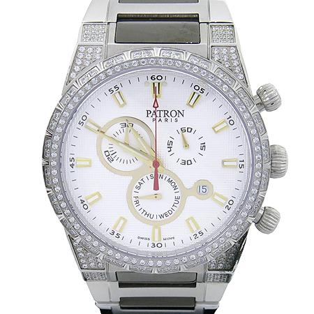 PATRON(패트론) PR201202WM 크리스탈 장식 스틸 남성용 시계 이미지2 - 고이비토 중고명품