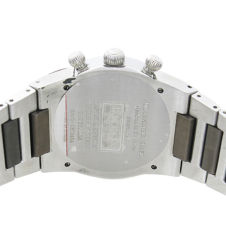 PATRON(패트론) PR201202WM 크리스탈 장식 스틸 남성용 시계