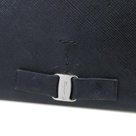Ferragamo(페라가모) 22 B480 금장 바라 사피아노 레더 장지갑
