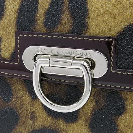 D&G(돌체&가바나) 레오파드 PVC 에나멜 스티치 여성용 장지갑