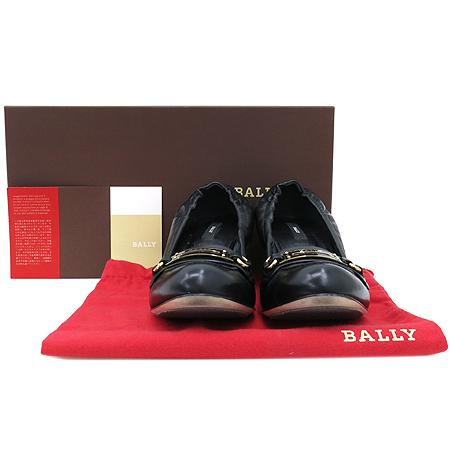Bally(발리) BENJIA 블랙 골드 메탈 로고 LAMB NAPPA(양가죽) PLAIN 여성 구두