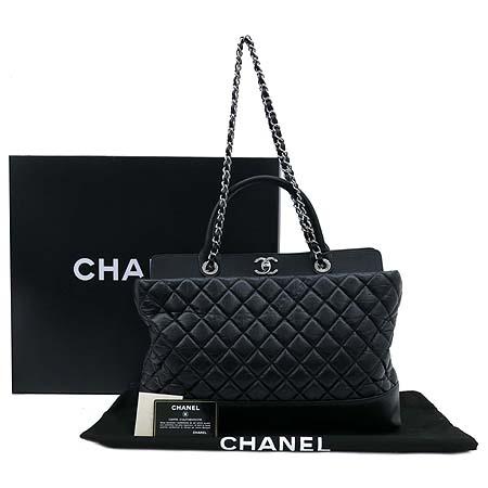 Chanel(샤넬) A66814 뉴 포르투 벨로 블랙 퀼팅 레더 실버 메탈 체인 2WAY