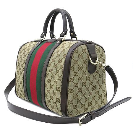 Gucci(구찌) 247205 GG로고 자가드 삼색 보스톤 토트백 + 숄더 스트랩