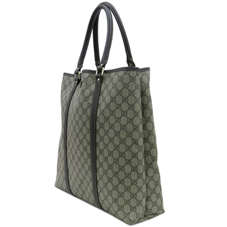 Gucci(구찌) 223668 GG 로고 PVC 브라운 레더 트리밍 토트백 [동대문점]