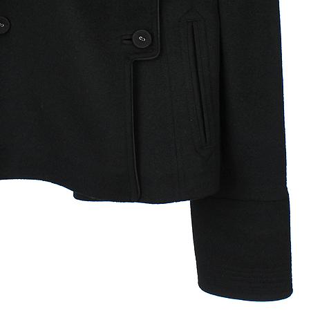 Calvin Klein(캘빈클라인) 블랙컬러 앙고라/캐시미어 혼방 반코트