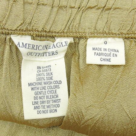 americaneagle(아메리칸이글) 메탈릭 브라운 컬러 실크 스커트