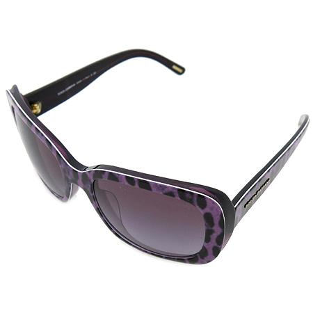 D&G(돌체&가바나) DG4101 측면 이니셜 로고 장식 퍼플 레오파트 뿔테 선글라스 [인천점]