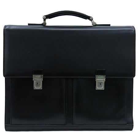 Ferragamo(페라가모) 24 7506 블랙 레더 투포켓 남성용 서류 가방 토트백 + 숄더 스트랩 이미지2 - 고이비토 중고명품