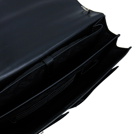 Ferragamo(페라가모) 24 7506 블랙 레더 투포켓 남성용 서류 가방 토트백 + 숄더 스트랩 이미지6 - 고이비토 중고명품