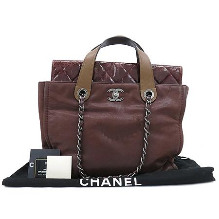 Chanel(샤넬) 브론즈 버건디 포르투 벨로 빈티지 메탈릭 2WAY
