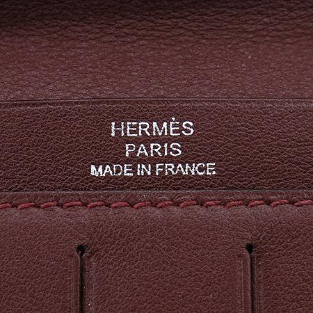 Hermes(에르메스) CITIZEN(시티즌) TWILL(트윌) VEAU(보) SWIFT(스위프트) 버건디 레더 장지갑