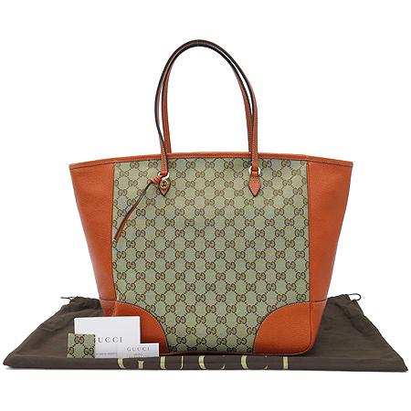 Gucci(구찌) 323671 오렌지 레더 자가드 트리밍 여성용 숄더백