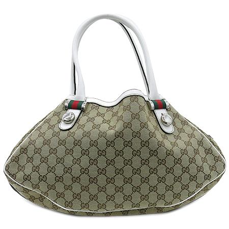 Gucci(구찌) 232971 화이트 레더 자가드 트리밍 여성용 숄더백
