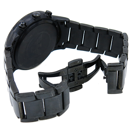 Armani(아르마니) AR2453 크로노그래프 블랙 스틸 라운드 남성 시계